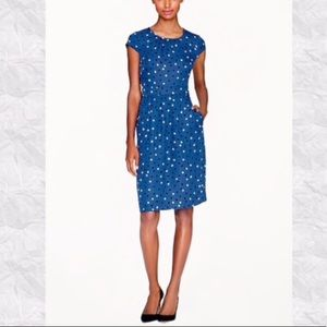 J Crew Cap Sleeve Dress in Abstract Dot